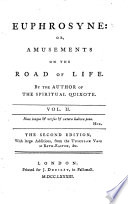 Euphrosyne  or  Amusements on the Road of Life in verse   By the author of the Spiritual Quixote R  Graves