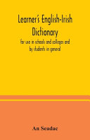 Learner s English Irish Dictionary