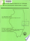 Low flow Characteristics of Streams in the Kishwaukee River Basin  Illinois Book PDF