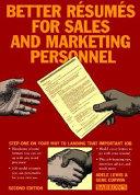 Better Résumés for Sales and Marketing Personnel