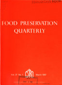 Food Preservation Quarterly
