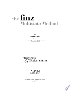 Download The Finz Multistate Method Free Books - Dlebooks.net