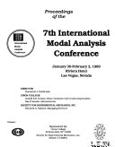 Proceedings of the     International Modal Analysis Conference   Exhibit