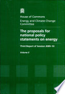 The proposals for national policy statements on energy Book