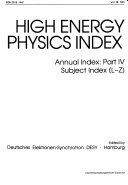 High Energy Physics Index