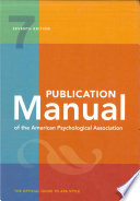 Publication Manual of the American Psychological Association  7th Edition Book