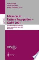 Advances in Pattern Recognition   ICAPR 2001