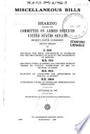 Miscellaneous Bills