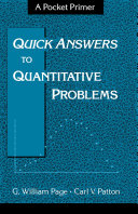 Quick Answers to Quantitative Problems