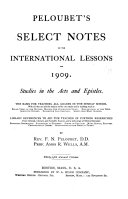 Peloubet s Select Notes on the International Bible Lessons for Christian Living