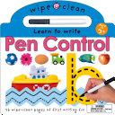 Wipe Clean Pen Control Book