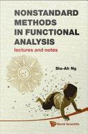 Nonstandard Methods in Functional Analysis