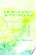 The Social World Of Deuteronomy