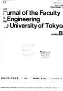 Journal of the Faculty of Engineering  University of Tokyo