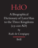 Pdf A Biographical Dictionary of Later Han to the Three Kingdoms (23-220 AD)