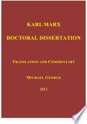 Marx Doctoral Dissertation Pdf