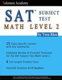 Solomon Academy s SAT Subject Test Math Level 2 Book
