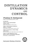 Distillation Dynamics and Control