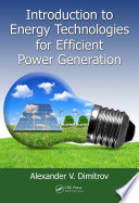 Introduction To Energy Technologies For Efficient Power Generation Book PDF
