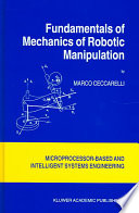 Fundamentals of Mechanics of Robotic Manipulation