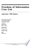 Freedom Of Information Case List PDF