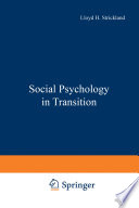 Social Psychology In Transition Book PDF
