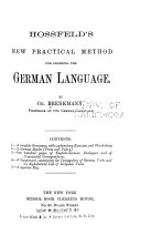 Hossfield s New Practical Method for Learning the German Language