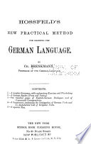 Hossfield's new practical method for learning the German language