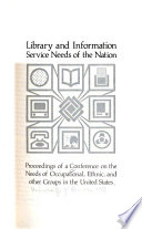 Library And Information Service Needs Of The Nation