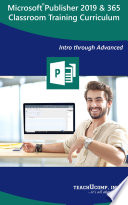 Microsoft Publisher 2019 Training Manual Classroom In A Book