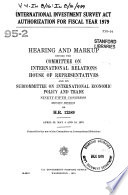 International Investment Survey Act Authorization for Fiscal Year 1979