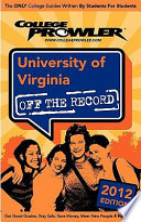 University of Virginia 2012