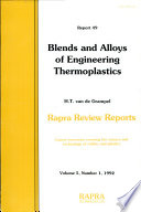 Blends And Alloys Of Engineering Thermoplastics