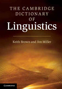 The Cambridge Dictionary of Linguistics