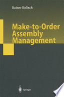 Make To Order Assembly Management