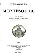 Oeuvres completes ; Avec des notes de Dupin, Crevier, Voltaire, Mably, Servan, la Harpe (etc.)