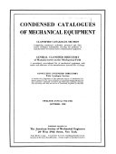 Condensed Catalogues Of Mechanical Equipment Book PDF