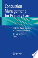 Concussion Management for Primary Care