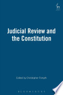 Judicial Review and the Constitution