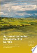 Agri environmental Management in Europe