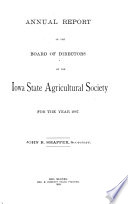 Report of the Board of Directors of the Iowa State Agricultural Society  for the Year