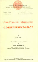 Correspondance. 2 volumes : Tome 1, 1744-1780