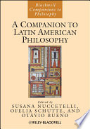 A Companion to Latin American Philosophy Book