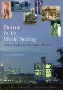 Pdf Detroit in Its World Setting