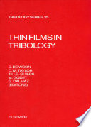 Thin Films In Tribology Book PDF