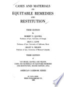 Cases and materials on equitable remedies and restitution