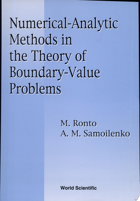 Numerical analytic Methods in the Theory of Boundary value Problems