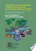 MECHANICAL ENGINEERING  ENERGY SYSTEMS AND SUSTAINABLE DEVELOPMENT  Volume I
