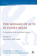 Pdf The Message of Acts in Codex Bezae (vol 4) Telecharger