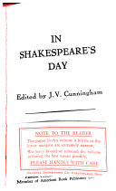 In Shakespeare's Day